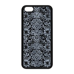 Damask2 Black Marble & Silver Paint (r) Apple Iphone 5c Seamless Case (black) by trendistuff