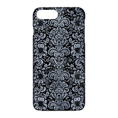 Damask2 Black Marble & Silver Paint (r) Apple Iphone 7 Plus Hardshell Case