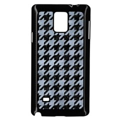 Houndstooth1 Black Marble & Silver Paint Samsung Galaxy Note 4 Case (black) by trendistuff