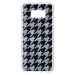Houndstooth1 Black Marble & Silver Paint Samsung Galaxy S8 Plus White Seamless Case