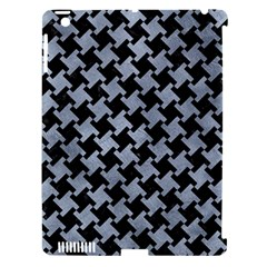 Houndstooth2 Black Marble & Silver Paint Apple Ipad 3/4 Hardshell Case (compatible With Smart Cover) by trendistuff