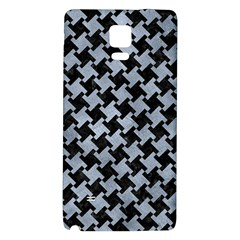 Houndstooth2 Black Marble & Silver Paint Galaxy Note 4 Back Case by trendistuff