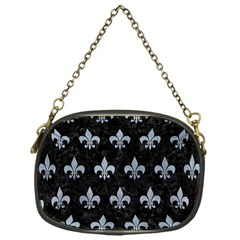 Royal1 Black Marble & Silver Paint Chain Purses (one Side)  by trendistuff