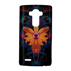 Beautiful Fiery Orange & Blue Fractal Orchid Flower Lg G4 Hardshell Case by jayaprime