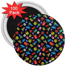 Christmas Pattern 3  Magnets (100 Pack) by tarastyle