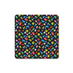 Christmas Pattern Square Magnet