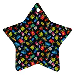 Christmas Pattern Star Ornament (two Sides) by tarastyle