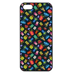 Christmas Pattern Apple Iphone 5 Seamless Case (black) by tarastyle