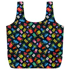 Christmas Pattern Full Print Recycle Bags (l)  by tarastyle