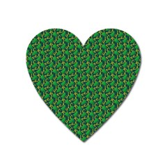 Christmas Pattern Heart Magnet by tarastyle