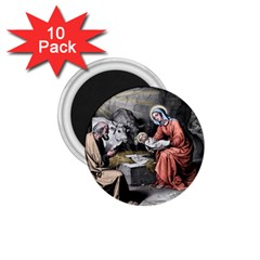 The Birth Of Christ 1 75  Magnets (10 Pack)  by Valentinaart