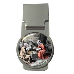 The Birth Of Christ Money Clips (round)  by Valentinaart