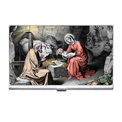 The Birth Of Christ Business Card Holders by Valentinaart
