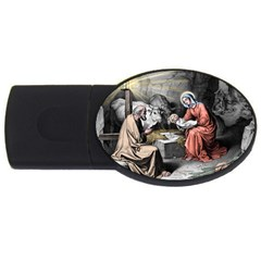 The Birth Of Christ Usb Flash Drive Oval (4 Gb) by Valentinaart