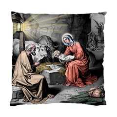 The Birth Of Christ Standard Cushion Case (one Side) by Valentinaart