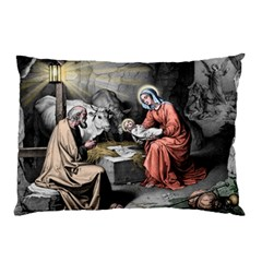 The Birth Of Christ Pillow Case by Valentinaart