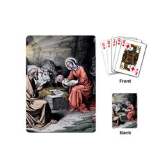 The Birth Of Christ Playing Cards (mini)  by Valentinaart