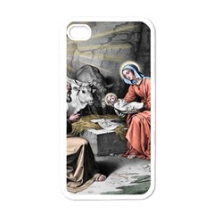 The Birth Of Christ Apple Iphone 4 Case (white) by Valentinaart