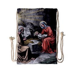 The Birth Of Christ Drawstring Bag (small) by Valentinaart