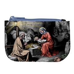 The Birth Of Christ Large Coin Purse by Valentinaart