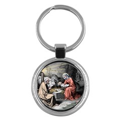 The Birth Of Christ Key Chains (round)  by Valentinaart