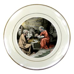 The Birth Of Christ Porcelain Plates by Valentinaart