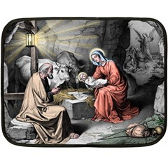The Birth Of Christ Double Sided Fleece Blanket (mini)  by Valentinaart