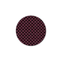 Scales1 Black Marble & Pink Denim (r) Golf Ball Marker (10 Pack) by trendistuff