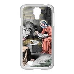 The Birth Of Christ Samsung Galaxy S4 I9500/ I9505 Case (white) by Valentinaart