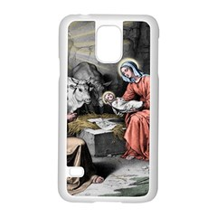 The Birth Of Christ Samsung Galaxy S5 Case (white) by Valentinaart