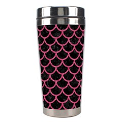 Scales1 Black Marble & Pink Denim (r) Stainless Steel Travel Tumblers by trendistuff