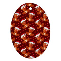 Christmas Pattern Ornament (oval) by tarastyle