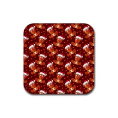Christmas Pattern Rubber Coaster (square)  by tarastyle