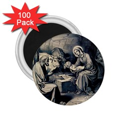 The Birth Of Christ 2 25  Magnets (100 Pack)  by Valentinaart