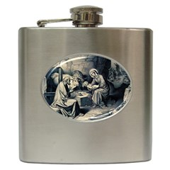 The Birth Of Christ Hip Flask (6 Oz) by Valentinaart