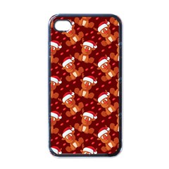 Christmas Pattern Apple Iphone 4 Case (black) by tarastyle