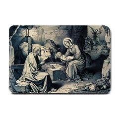 The Birth Of Christ Small Doormat  by Valentinaart