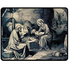 The Birth Of Christ Double Sided Fleece Blanket (medium)  by Valentinaart