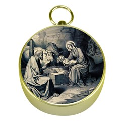 The Birth Of Christ Gold Compasses by Valentinaart