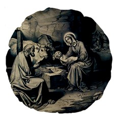 The Birth Of Christ Large 18  Premium Flano Round Cushions by Valentinaart