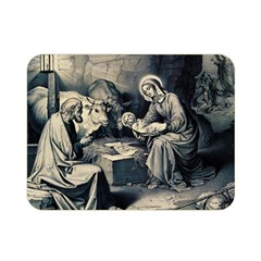 The Birth Of Christ Double Sided Flano Blanket (mini)  by Valentinaart