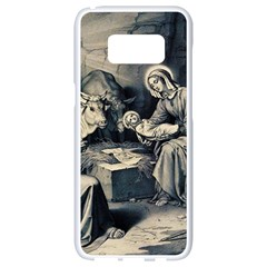 The Birth Of Christ Samsung Galaxy S8 White Seamless Case by Valentinaart