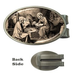 The Birth Of Christ Money Clips (oval)  by Valentinaart