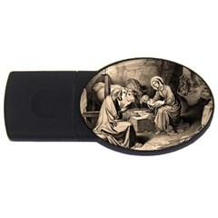 The Birth Of Christ Usb Flash Drive Oval (2 Gb) by Valentinaart