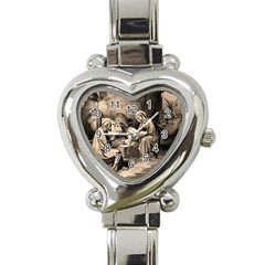 The Birth Of Christ Heart Italian Charm Watch by Valentinaart
