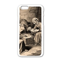 The Birth Of Christ Apple Iphone 6/6s White Enamel Case by Valentinaart