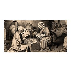 The Birth Of Christ Satin Wrap by Valentinaart