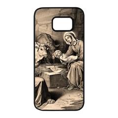 The Birth Of Christ Samsung Galaxy S7 Edge Black Seamless Case by Valentinaart