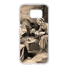 The Birth Of Christ Samsung Galaxy S7 Edge White Seamless Case by Valentinaart
