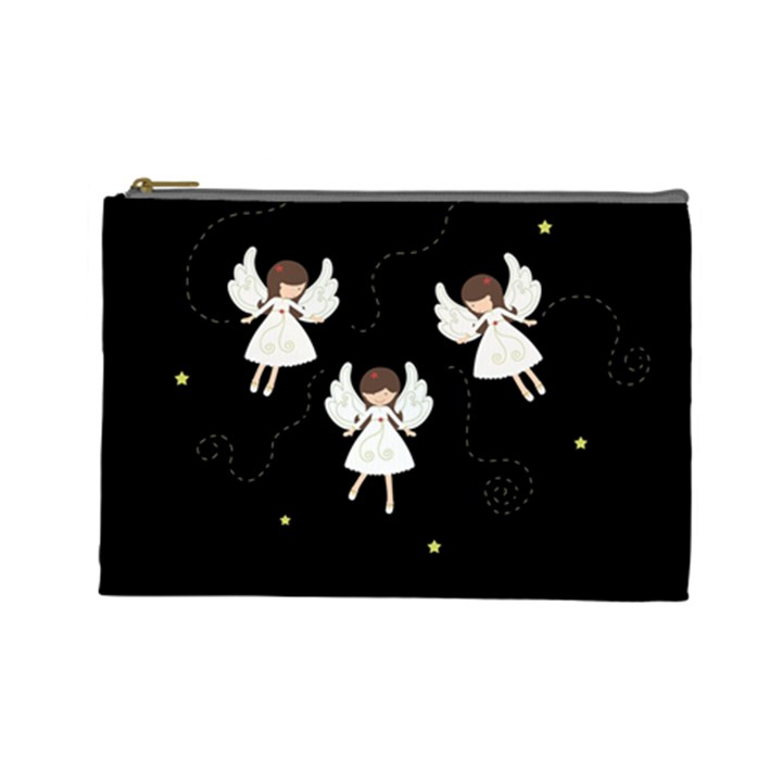 Christmas angels  Cosmetic Bag (Large)